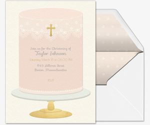Baptism Cake Invitation