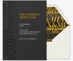 Mix and Mingle Invitation