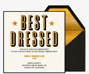 Best Dressed Invitation