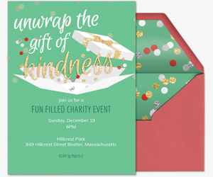 Kindness Gift Holiday Invite Invitation