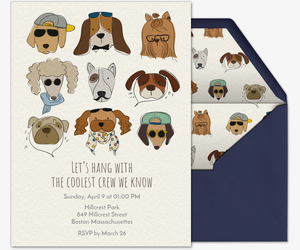 Hipster Dogs Invitation