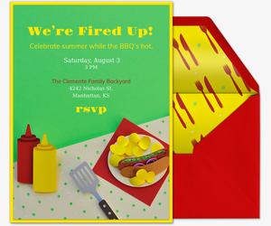 We're Fired Up Invitation