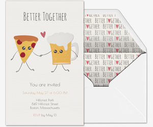 Pizza Beer Invite Invitation