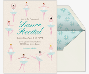 Tiny Dancers Invitation