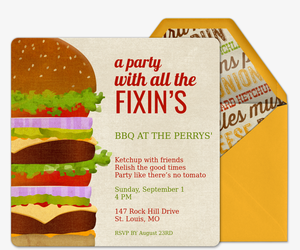All the Fixin's Invitation
