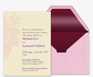 Exotic Flower Invitation