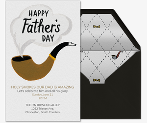 Smokin Dad Invitation