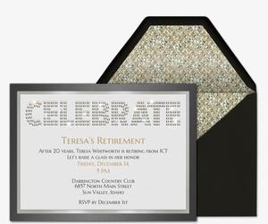 Retirement / Farewell free online invitations