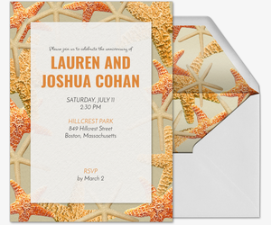 Beach Starfish Invitation