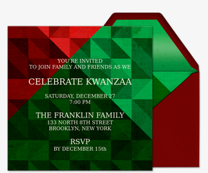Celebrate Kwanzaa Invitation