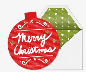Christmas Ornament Invitation