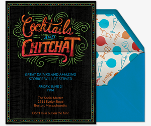 Cocktails and Chitchat Invitation