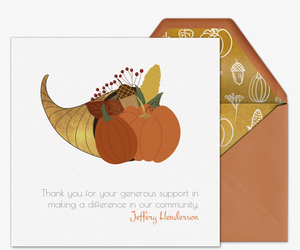 Cornucopia Card Invitation