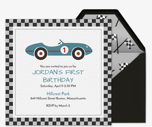 Retro Racecar Invitation