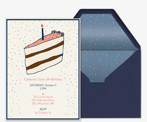 Piece of Cake Invitation