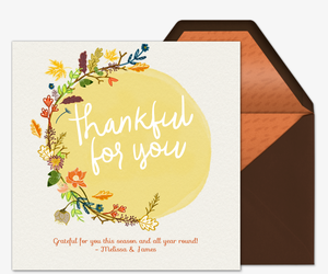 Fall Thankful for You Invitation