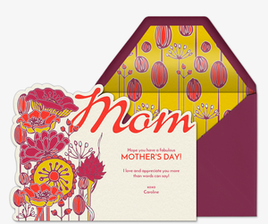 Flowers for Mom Invitation
