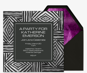 Foil Zigzag Invitation