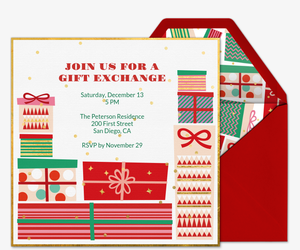 Gift Exchange Invitation