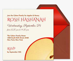 Apples and Honey Invitation