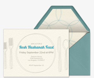 Place Setting  Religious Invitation