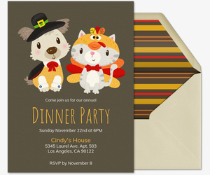 Gobble Woof Meow Invitation