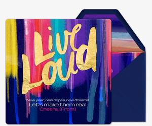 Live Loud Invitation