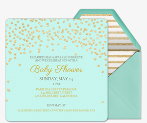 Online baby shower invitations evite baby sparkle invitation stopboris Choice Image