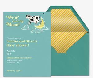 Over The Moon Invitation