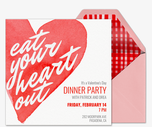 eat your heart out invitation