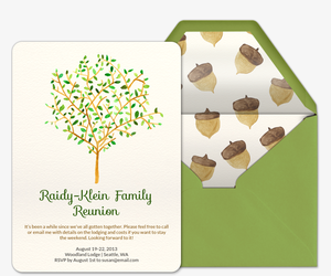 Family Reunion Tree Invitation  Family Reunion Invitation Cards