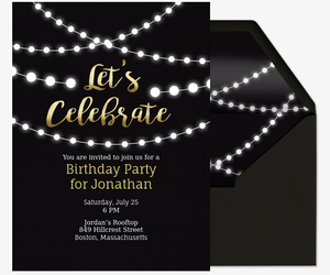 Free birthday party invitations for him evite string lights invite invitation filmwisefo