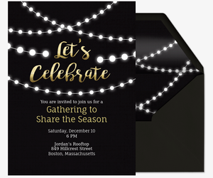 Online invitations for events and parties wrsvp evite string lights invite invitation stopboris Choice Image