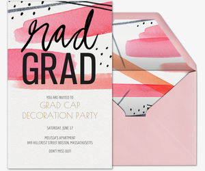 Rad Grad Rose Invitation