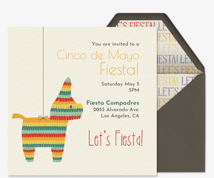 Pinata Fiesta Invitation