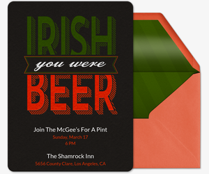 Irish Beer Invitation
