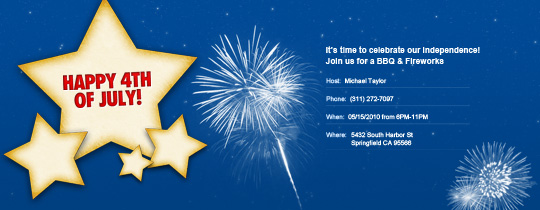 4th of July Stars Invitation