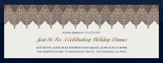 Patterns and Arches Invitation
