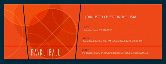 Basketball Rings Invitation
