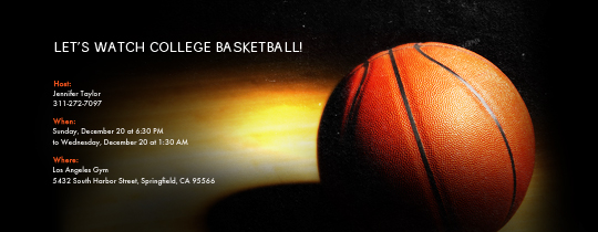 Basketball Spotlight Invitation