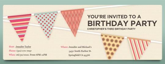 Birthday Flags Invitation
