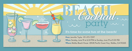 Beach Cocktail Party Invitation