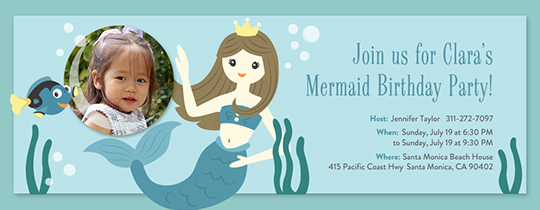 Beach Mermaid Invitation