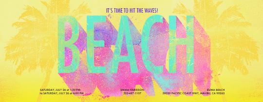 Beach Waves Invitation