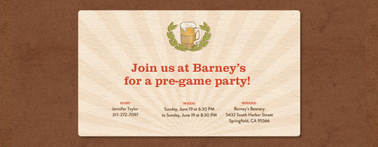 Beer Stein Invitation