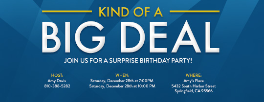 Big Deal Invitation