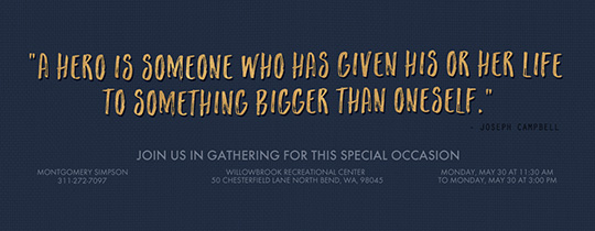 Bigger Than Quote Blue Invitation