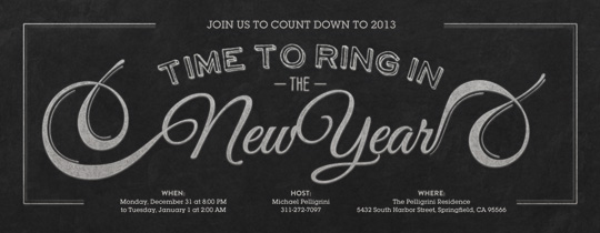 Blackboard Flourish Invitation