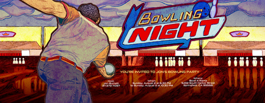 Bowling Lanes Invitation