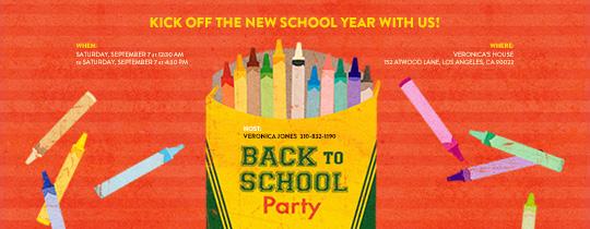 Box of Crayons Invitation